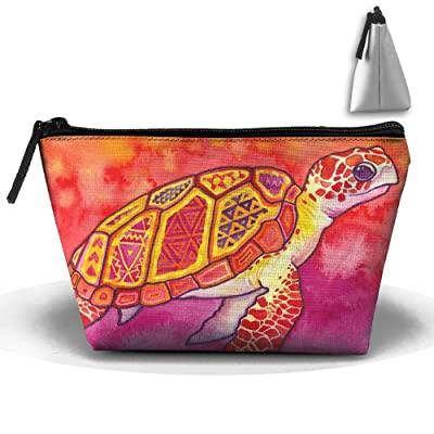 Seaturtle Spirit Print Multifunction Portable Mini Makeup Bag Cosmetic Bag For Home Office Travel Sport Gym Outdoor
