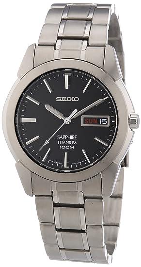 Seiko Reloj Analógico de Cuarzo para Hombre con Correa de Titanio – SGG731P1
