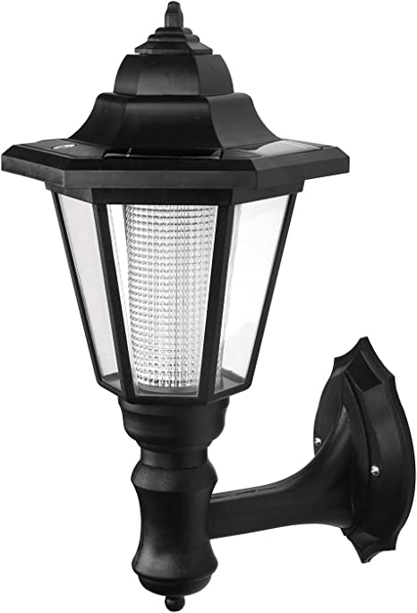 New Solar Powered Victorian Style Outdoor Garden Fence Wall Lights Lanterns Lamp