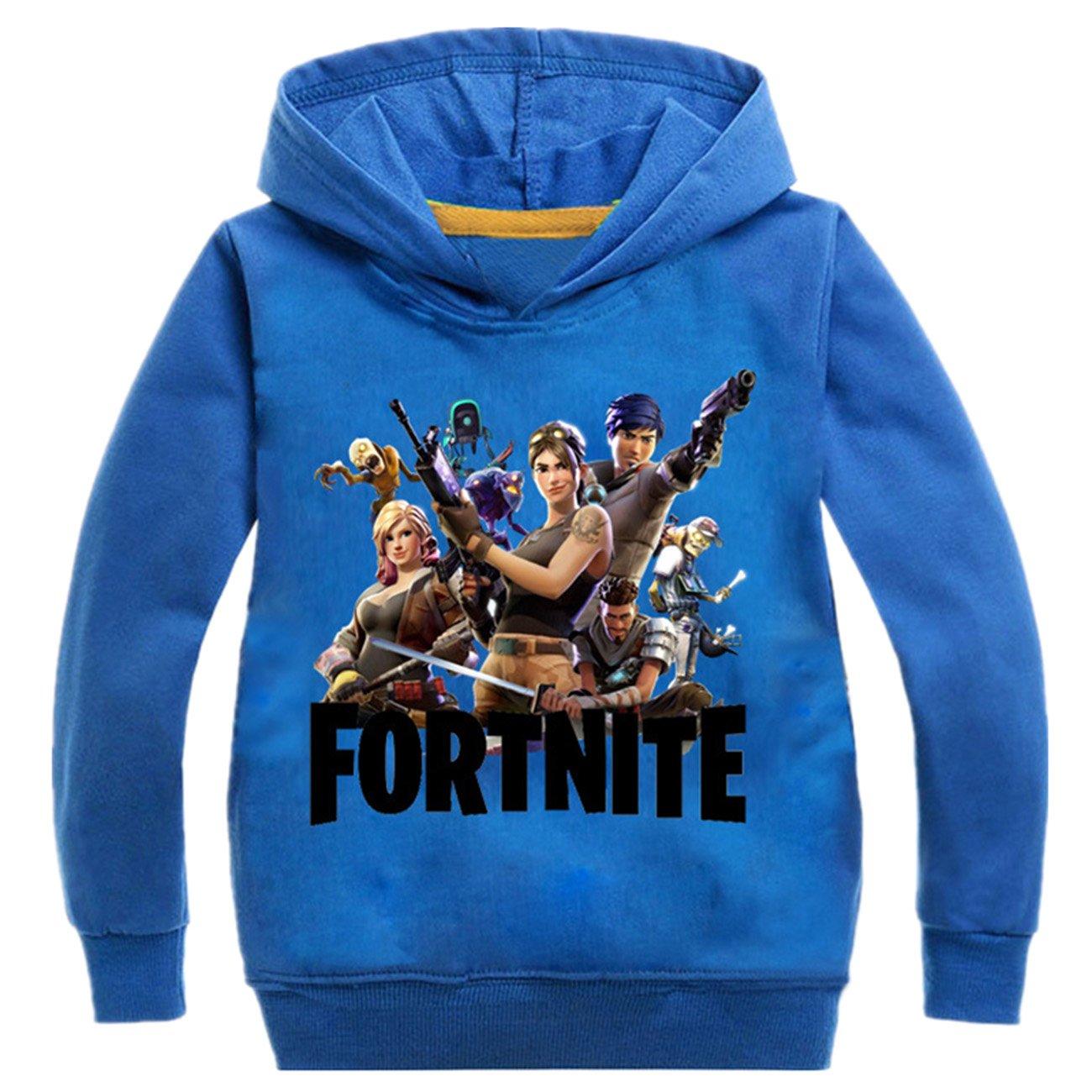 ZIGJOY Fortnite Gaming Gamer Coton Unisexe Confortable à Capuche pour Les Enfants ZZIGJOY-XL-DM-T058-B1