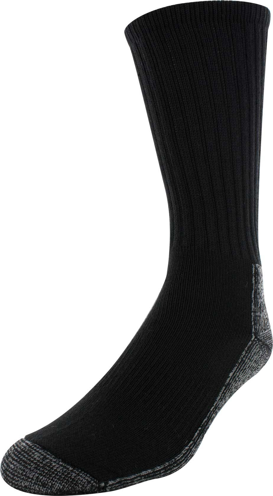 Field & Stream Iron Mill Work Crew Socks 3 Pack (Black, XL)