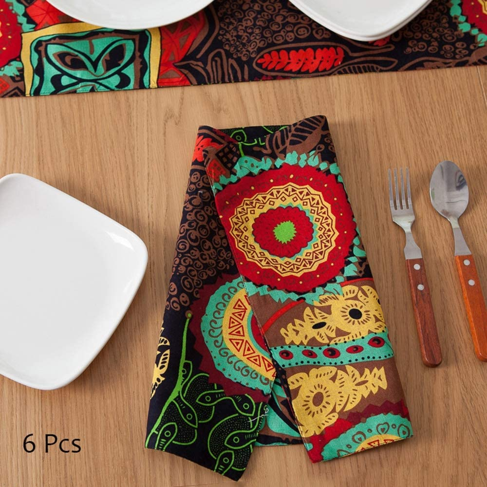 Ticken Cotton Placemat Unique Design Non Slip Heat Insulation Table Place Mats 32x45cm OYPA Placemats and Coaster Sets of 6