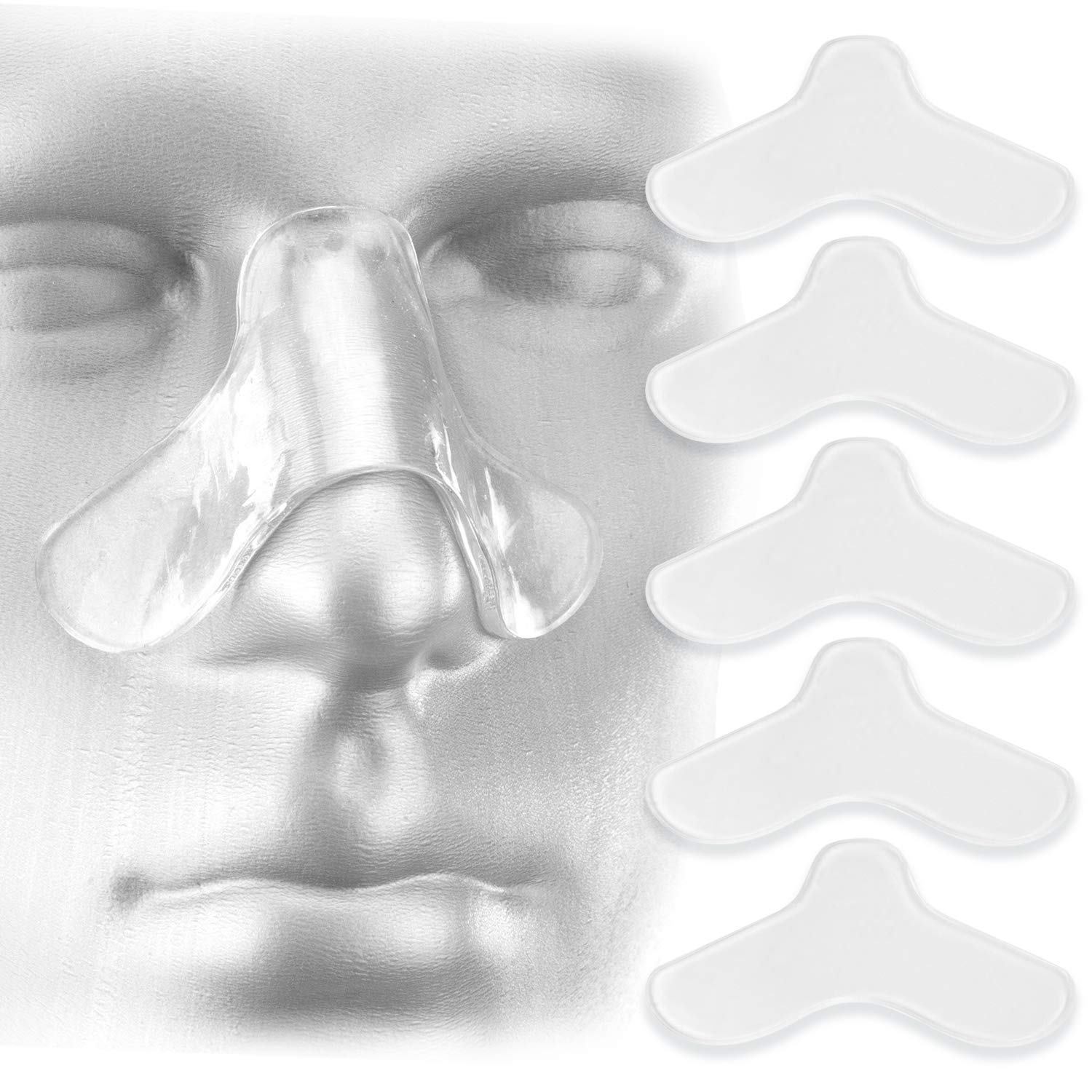5 Pack Nasal Pads for CPAP Mask - CPAP Nose Pads - CPAP Supplies for CPAP Machine - Sleep Apnea Mask Comfort Pad - Custom Design & Can Be Trimmed to Size - CPAP Cushions for Most Masks