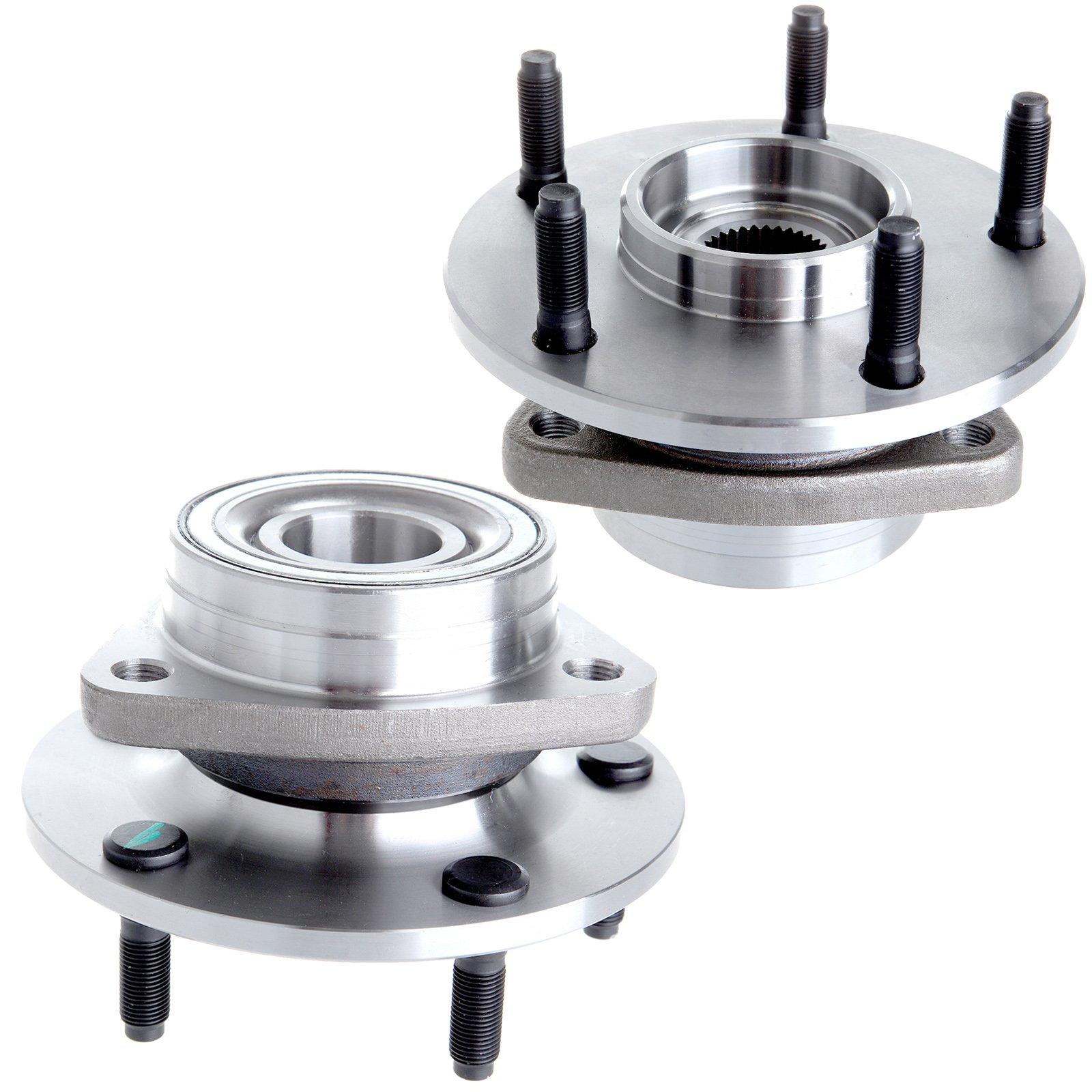 Wheel Hub Bearing fits 1994-1999 Dodge Ram 1500 4WD 5 Lugs Compatible with 515006 2pcs by ECCPP