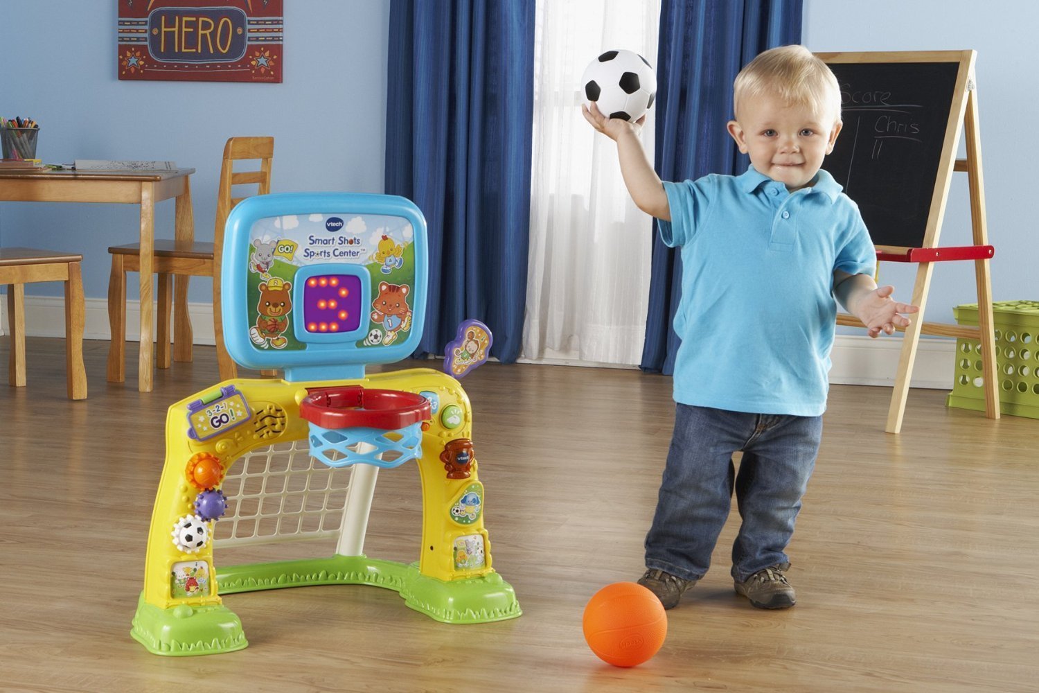 Bright Colors and Cute Design Electronic Smart Shots Sports Center, 50+ Songs, Multicolor by VTech (Image #5)
