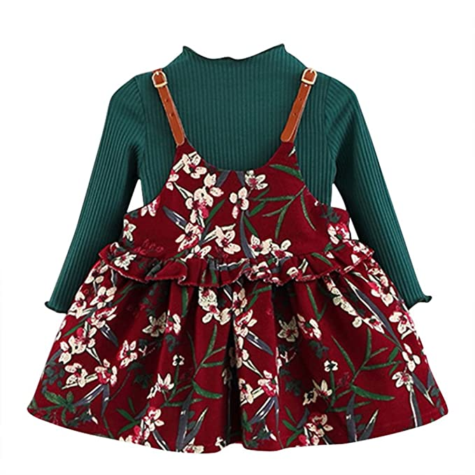 c7d4df5bd Amazon.com  Soly Tech Baby Girls Long Sleeve Knitted Sweater + ...
