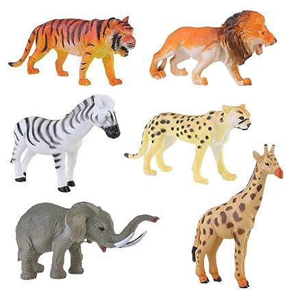Amazon Com Lchen Animals Figure 4 Zoo Safari Plastic Model Tiger