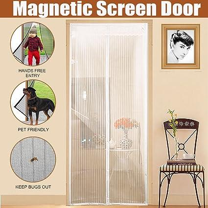 Magnetic Screen Door With Heavy Duty Mesh U0026 Full Frame Stickers,Aopet Hands  Free Mesh