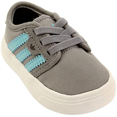 Adidas Skate Toddlers Seeley I (gray / light aqua / core black)-2.0