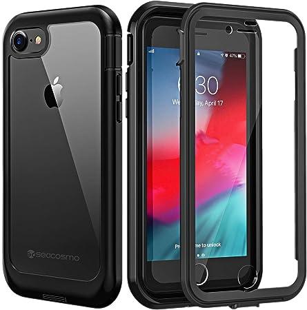 seacosmo Cover iPhone 7/8, Cover iPhone SE 2020, 360 Gradi Rugged Custodia iPhone 7 Antiurto Trasparente Case con Protezione Integrata dello Schermo, ...