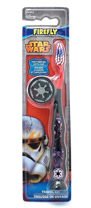 Disney Star Wars Cepillo de dientes para niños, con funda de viaje: Amazon.es: Salud y cuidado personal