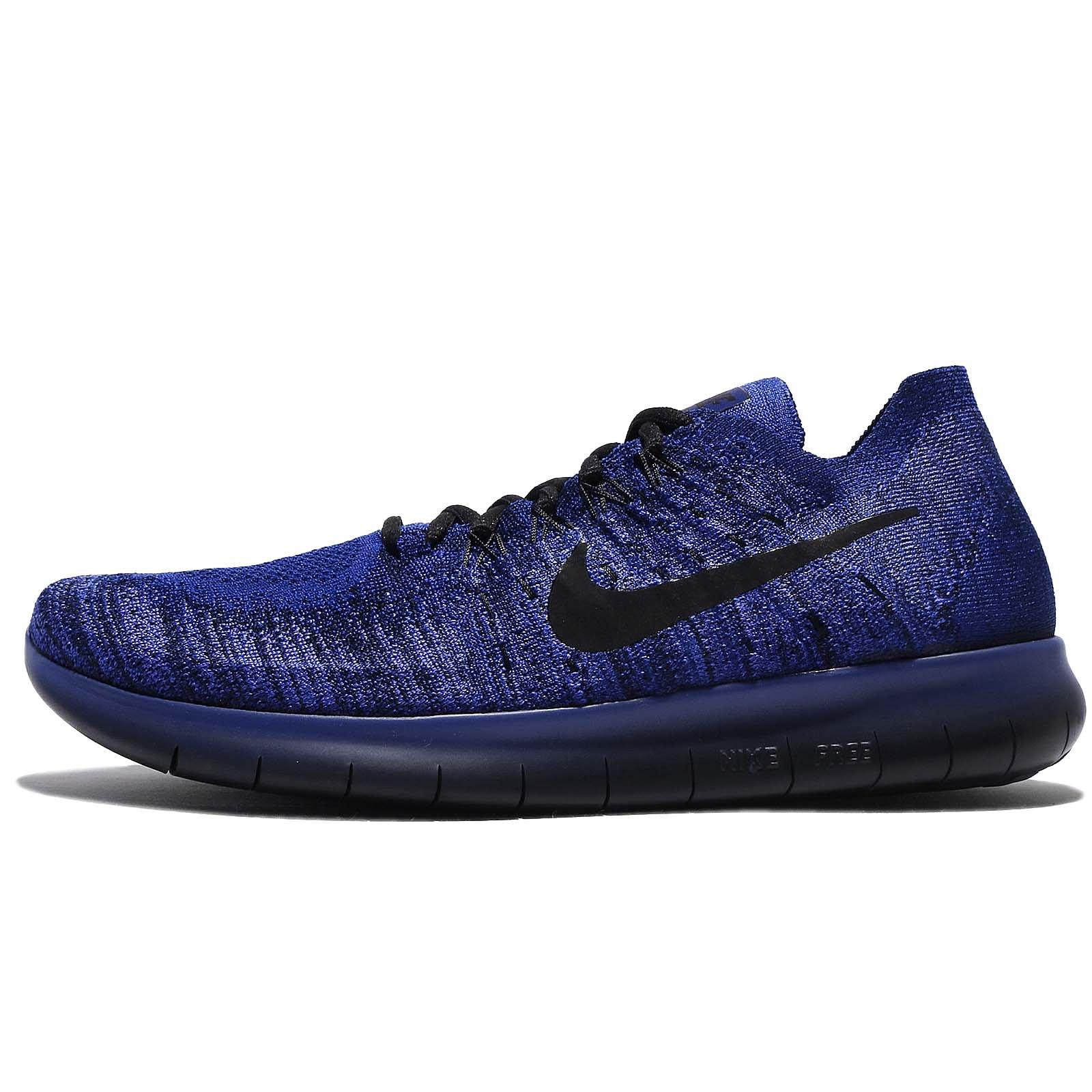 Galleon - Nike Free RN Flyknit 2017 880843 406 Deep Royal Blue/Black ...