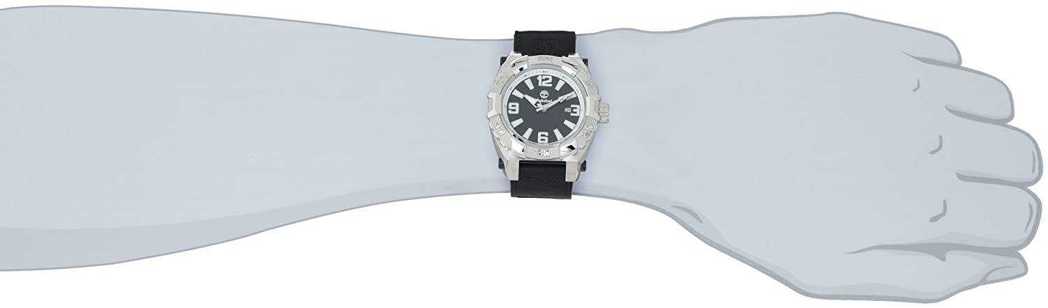 Amazon.com: Timberland Mens TBL_13322JS_02 Hookset Analog 3 Hands Date Watch: Timberland: Watches