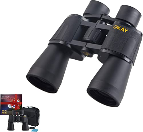 Binoculars for Adults Women Men, Best Present in Gift Box, Ideal for Hunting Travel Astronomy Stargazing Safari Bird Watching Folding Rangefinder Powerful Binoculars 10×50 Binoculars