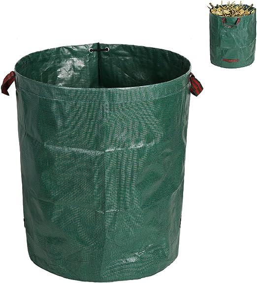 Enjoygoeu 1pcs Bolsas de Basura de Jardín Sacos de Jardín Plegables con Asas Césped Bosque Impermeable Reutilizable: Amazon.es: Jardín