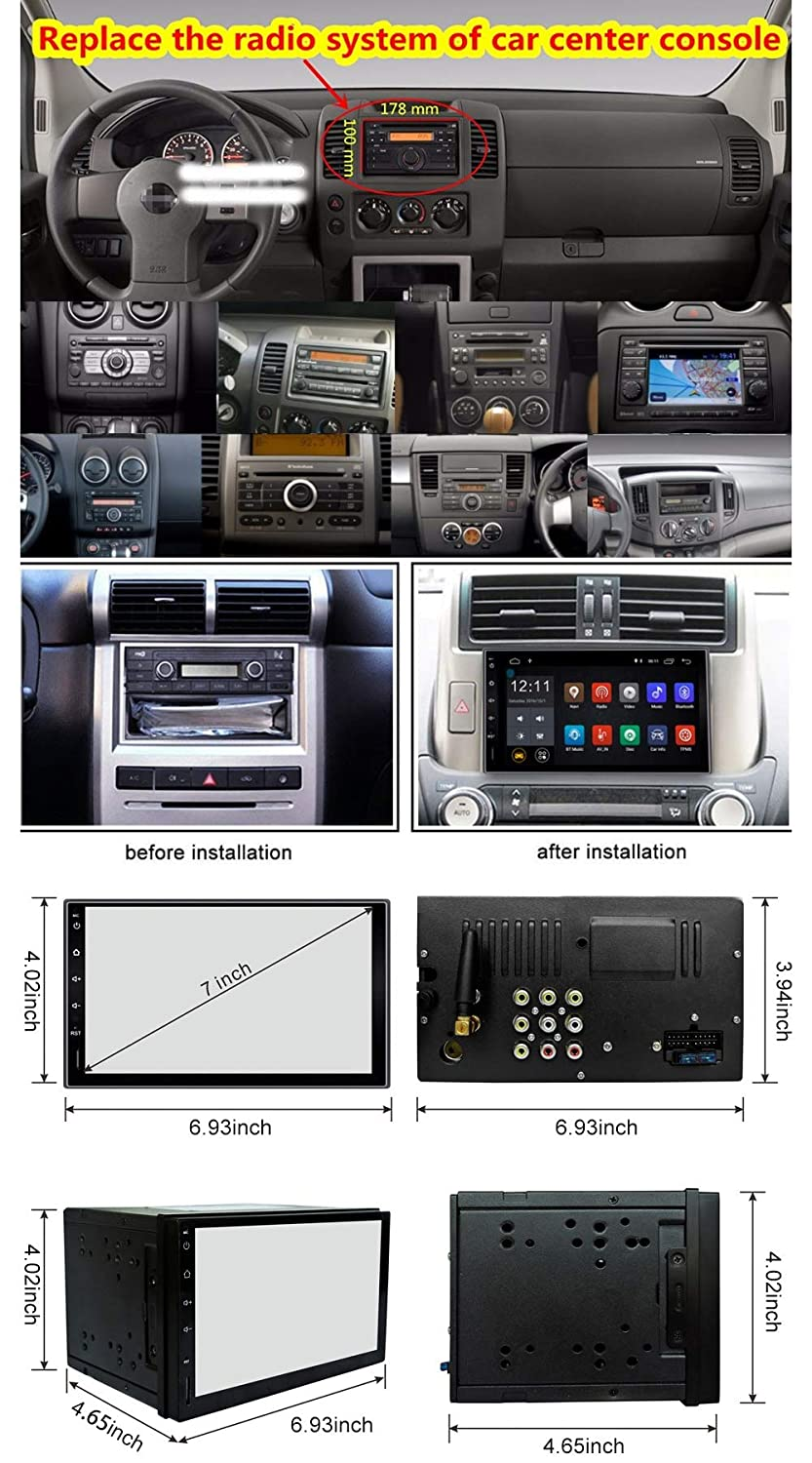 16G NAND Memory Flash CT0010 /… Rhythm Electronics Limited Ezonetronics Android 6.0 2 Din Car Radio Stereo Double Din 7 inch Capacitive Touch Screen High Definition 1024x600 GPS Navigation USB SD Player 2G DDR3
