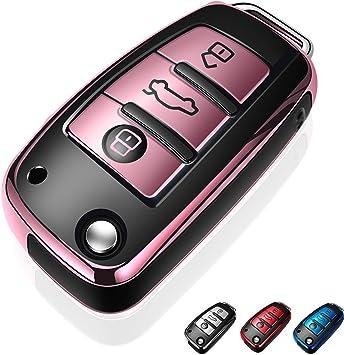3 buttons tpu flip Remote Key Fob Case Cover for Audi A1 A3 A4 A6 Q3 Q5 Q7 TT