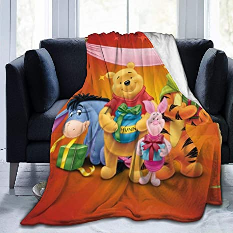 FASHIONDIY Winnie The Pooh Blanket Oversized Warm Adult Super Soft Blanket With Soft Anti-pilling Flannel For Adults /& Kids 3D Print 50x40