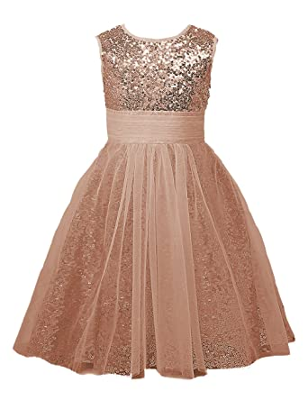 7c6130772 Mermaidtalee Sequin Baby Flower Girl's Dresses Occasion Dresses Long Size2T  Blush