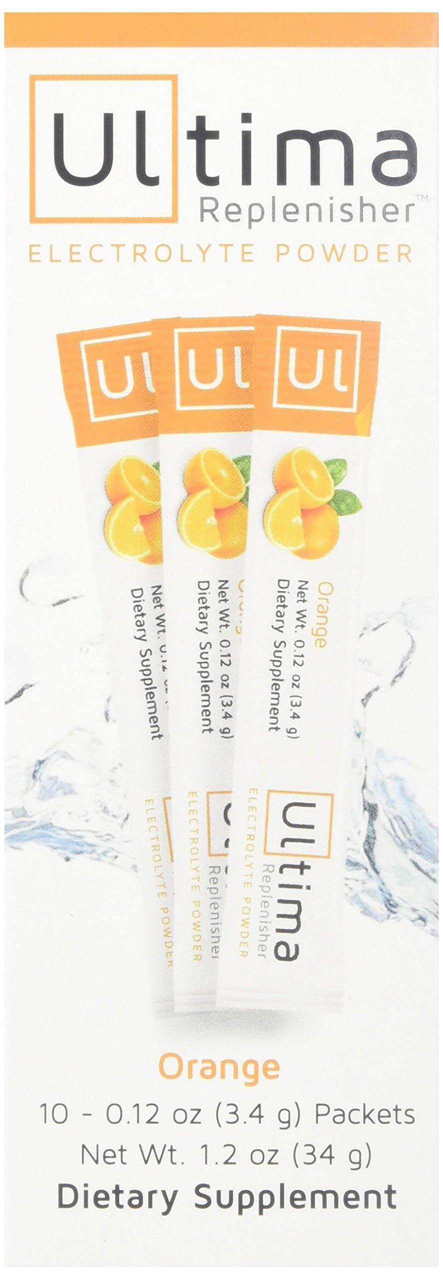 New Ultima Hydrating Electrolyte Powder, Orange, 10 Count Stickpacks