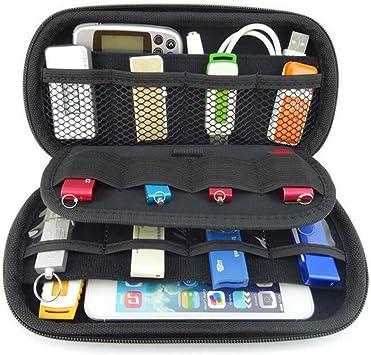 vzer multifunción Big capacidad USB flash disco duro caso bolsa para U disco USB disco de memoria SD Card con tarjeta de Crédito Ranura Soporte, Negro: Amazon.es: Electrónica
