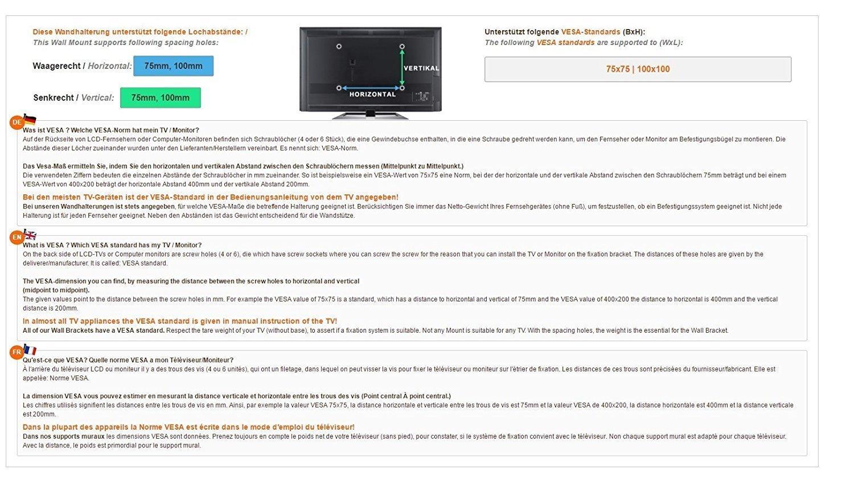 RICOO Support PC pour 2 ecrans TS5811 Double Bras orientable inclinable TV  sur Pied Meuble de ad6447d9b611