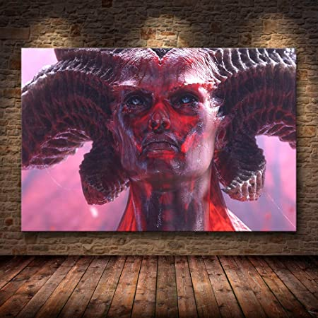 Diablo IV HD Video Game Printed Canvas Poster Painting Lilith Home Wall Decor