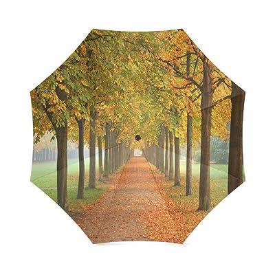 Custom Autumn symbols Compact Travel Windproof Rainproof Foldable Umbrella new