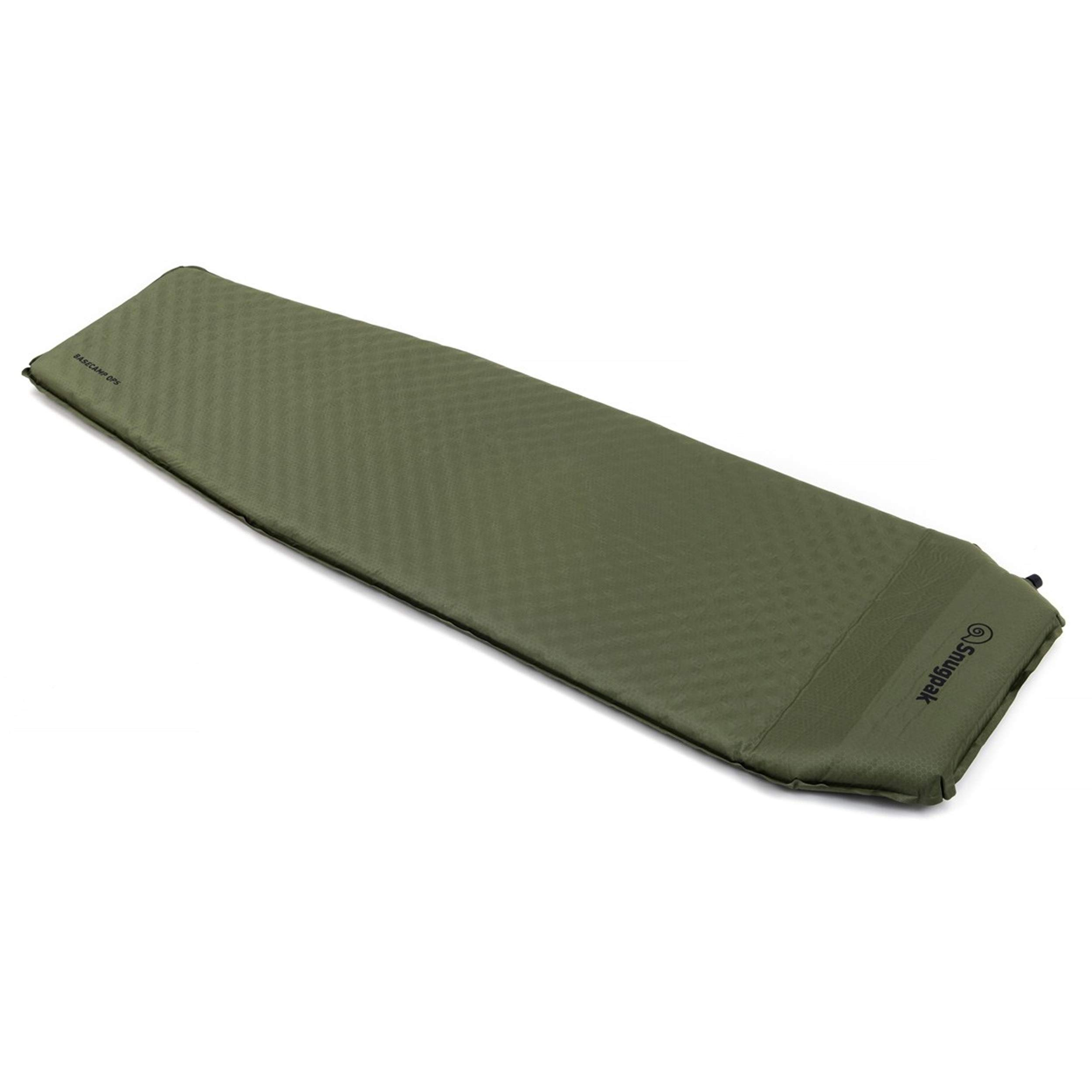 Snugpak Elite Oversized Self Inflating Mat with Built In Pillow and Non-Slip Bottom, Olive by Snugpak