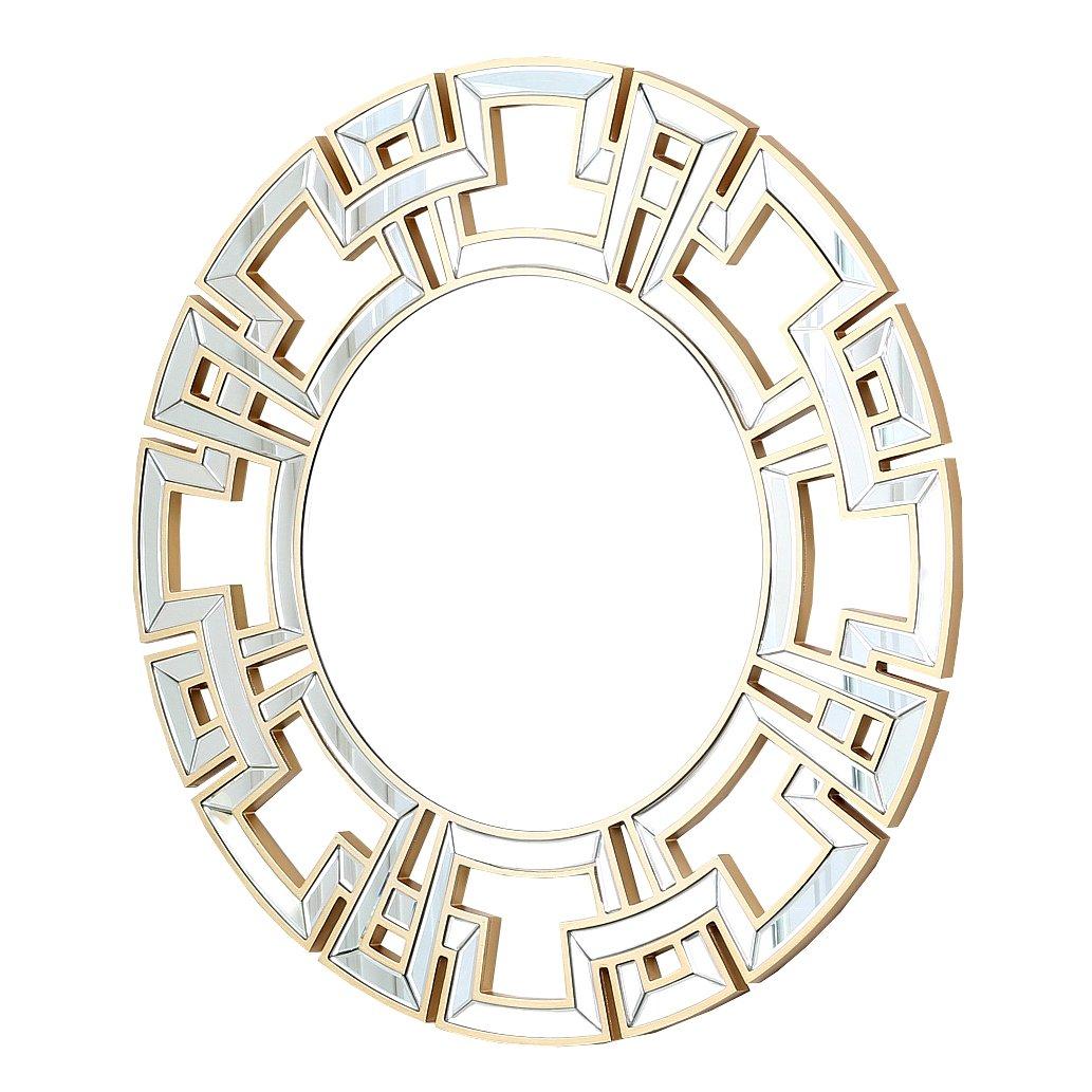 Amazon abbyson zentro round wall mirror silver home kitchen amipublicfo Images
