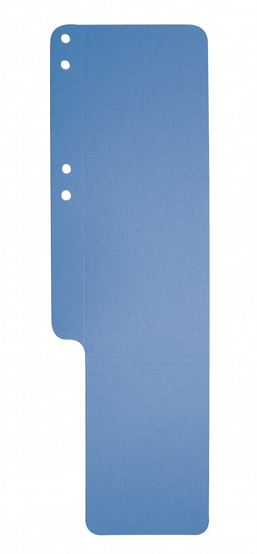 Exacompta Indicadores de archivador de cartón reciclado, color azul claro: Amazon.es: Oficina y papelería