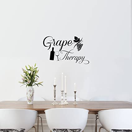 Ordinaire Grape Therapy Funny Wall Decals   Vinyl Wall Art Decal   Funny Wine Quote Wall  Decals