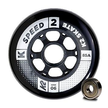 K2 Speed Wheel 30B3011.1.1.1SIZ - Juego de 8 Ruedas para Patines en línea, 90 mm, ILQ 9, tamaño único: Amazon.es: Deportes y aire libre