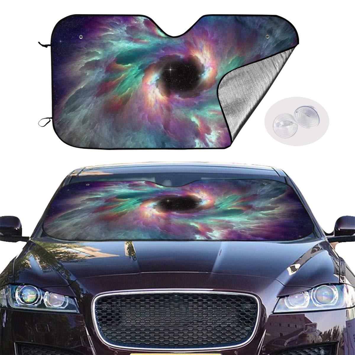 Windshield Sunshade for Car Foldable UV Ray Reflector Auto Front Window Sun Shade Visor Shield Cover, Keeps Vehicle Cool, Cosmic by Sha-de