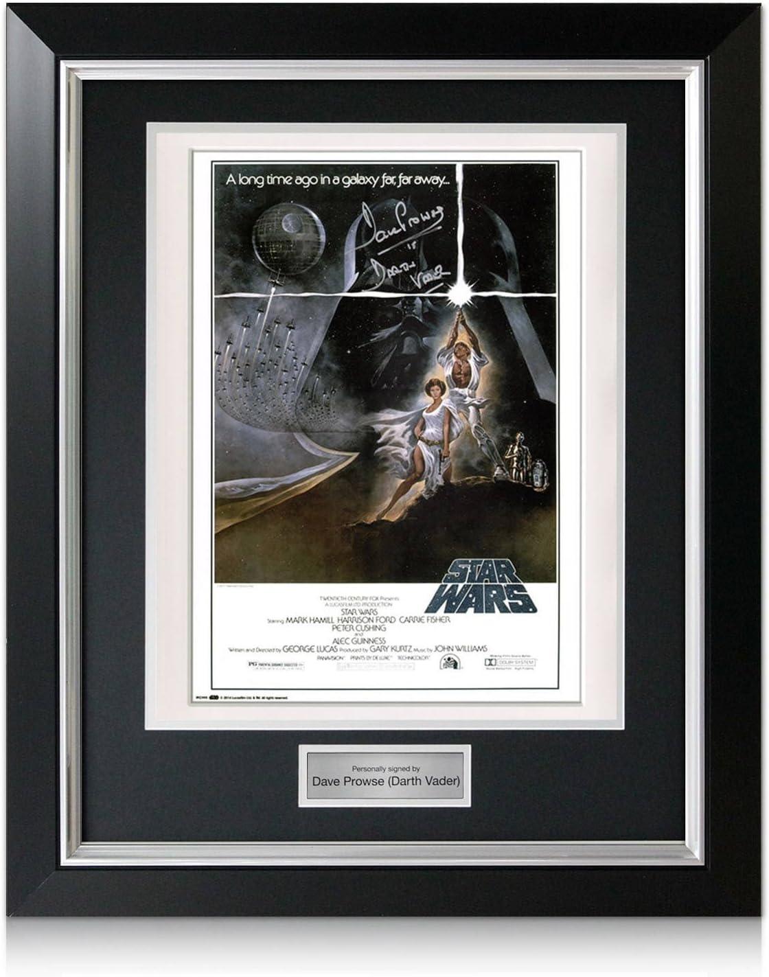 Darth Vader de Star Wars Firmado Cartel En la imagen de lujo con incrustaciones de plata: Amazon.es: Deportes y aire libre
