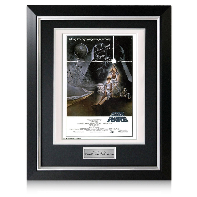 Signiert Darth Vader Star Wars Poster In dem Luxusimage mit Silber ...