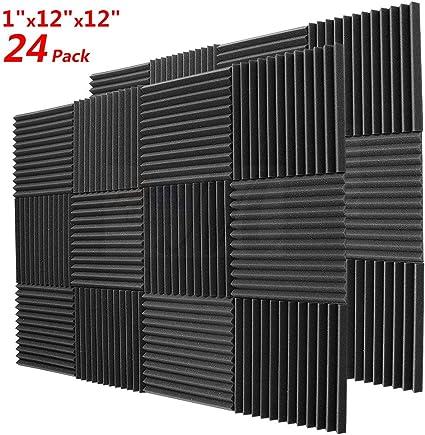 25 x 25 x 5 cm rosso e nero piramide acustica Home Studio trattamento insonorizzante accessori pannelli da parete in schiuma pannelli fonoassorbenti rosso