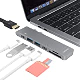 TWOPAN USB C Hub T8-H, USB-C to USB 3.0/4K HDMI Adapter USB-C Digital AV Multiport Adapter Compatible with MacBook Air…