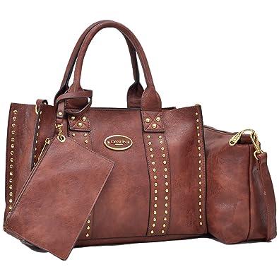 fb859b36f40 Image Unavailable. Image not available for. Color  Women Designer Vegan  Leather Handbags Fashion Satchel Bags Shoulder ...