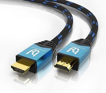 Todo para el streamer: Ultra HDTV Premium – 3m 4K Cable HDMI 2.0b | 4K/60Hz (sin interferencias), HDR, 3D, ARC, Ethernet