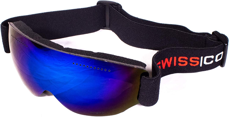 SwissCorps M4S Swiss Army Ski Snowboard Snow Goggles Pilot Mask Style Anti-Fog VLT Lens w Case