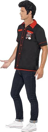 Smiffys - Disfraz de 50Ž Bowling Camisa (22432M): Amazon.es ...