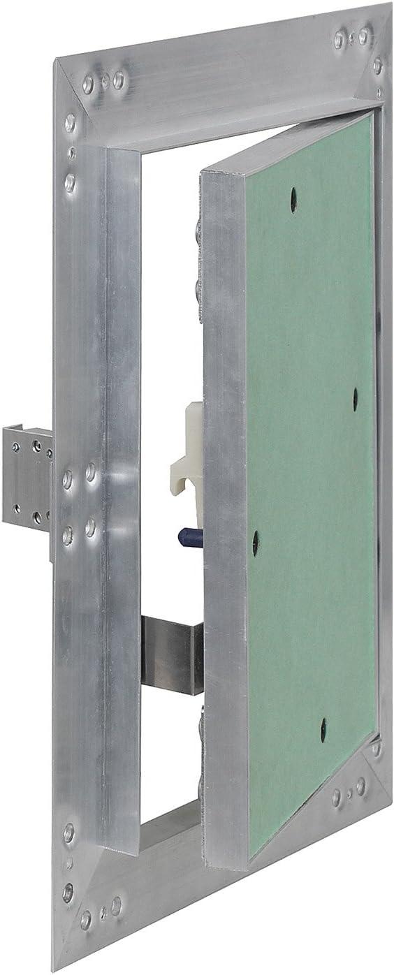 Puerta revisión Trampilla inspección marco aluminio 25x40cm Panel acceso Yeso 12,5 mm Techo Pared