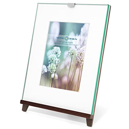 Amazon.com - Swing Design Frame Easel Walnut 8x10 with 5x7 mat ...
