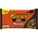 REESE'S Dark Chocolate Peanut Butter Cups Miniatures, (12-Ounce Bag, Pack of 4)