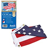Annin Flagmakers Model 2710 American Flag Tough-Tex The Strongest, Longest Lasting, 3x5 ft, 100% Made in USA with Sewn Stripe