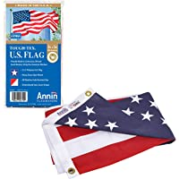 Annin Flagmakers Model 2710 American Flag Tough-Tex The Strongest, Longest Lasting, 3x5 ft, 100% Made in USA with Sewn…