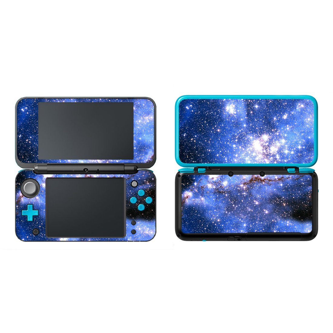 UUShop Protective Vinyl Skin Sticker Cover Wrap for New Nintendo 2DS XL/LL Blue Starry Sky