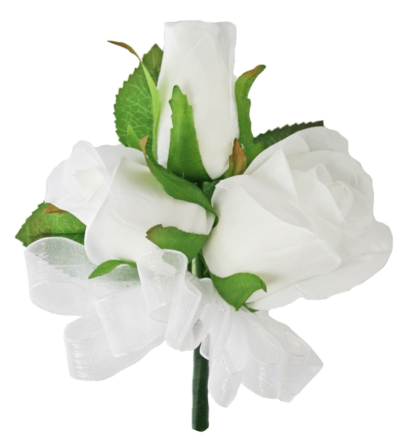 Amazon White Silk Rose Corsage Wedding Corsage Prom Home