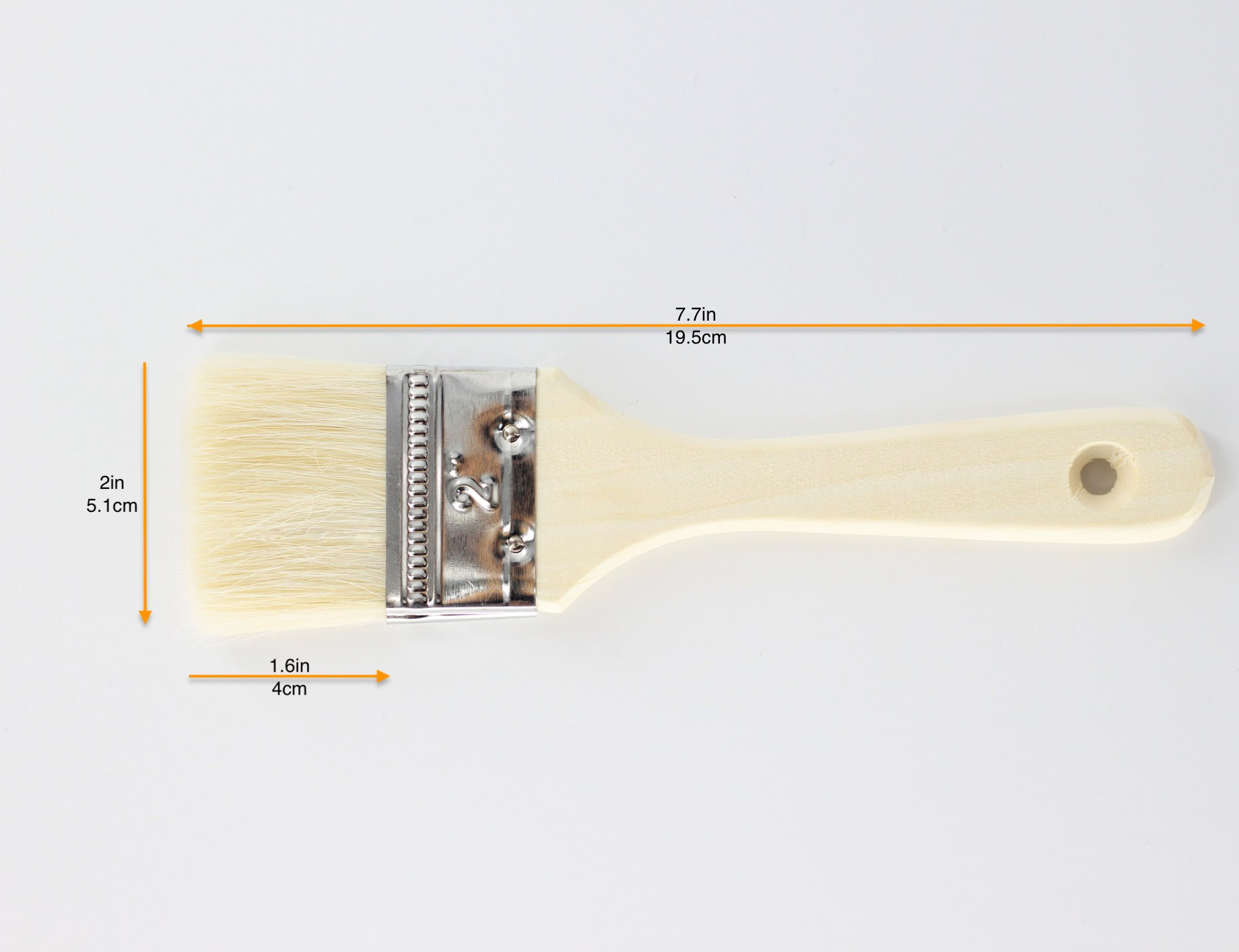 Fiomia Pastry Brush 2 High quality woolen bristle: thick and flexible, safe and eco-friendly, even pasting, beautiful texture, durable Full wooden handle: streamlined design and comfort grip, easy to hang and save space High efficiency: absorbent, save time and effort